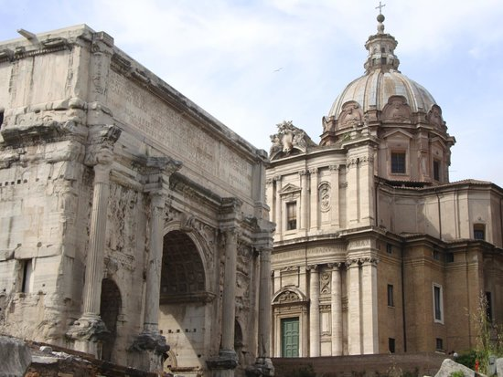 Through Eternity Cultural Association: The Arch of Septimius Severus, built in AD 203.
