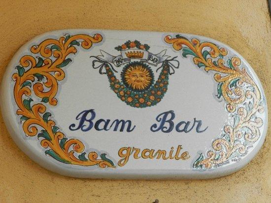 Bam Bar: insegna