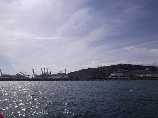 Las Golondrinas: vista do porto
