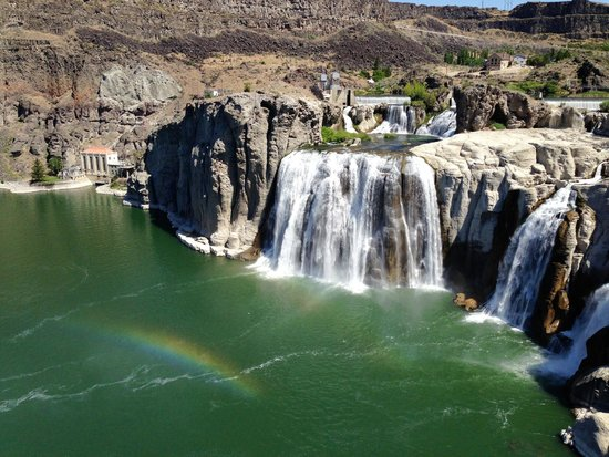 Shoshone Falls : Falls midday in a dry year
