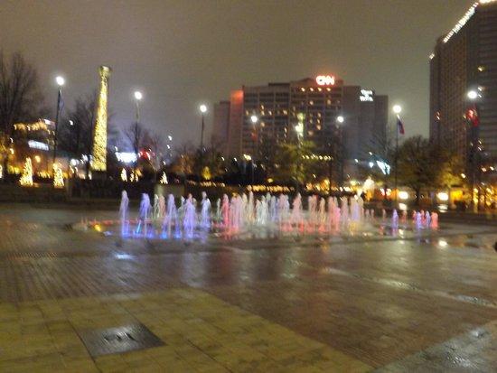 Centennial Olympic Park : Fonte luminosa