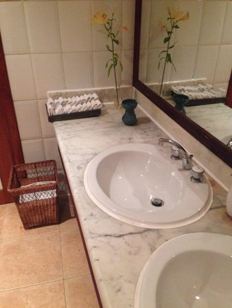 Baron Resort Sharm El Sheikh: Luxurious toilets: Cloths instead of paper towels was a nice touch