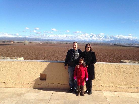 Bodega Catena Zapata: Parte superior com vista para os vinhedos