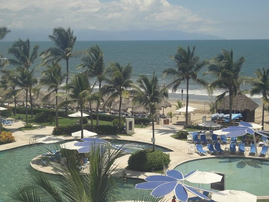 Hard Rock Hotel Vallarta: View of beach from our room 4043