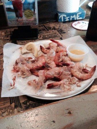 Shuckin Shack: Our half eaten shrimp-SO good!!!