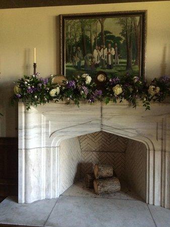 The Sewanee Inn: Fireplace of function area