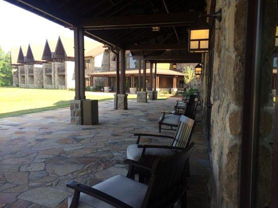 The Sewanee Inn: Patio off function rooms