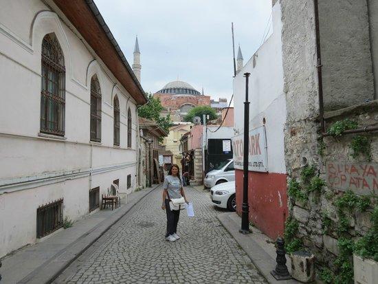 Zeynep Sultan Hotel: la strada davanti l'hotel