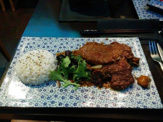 Wasabi d'Azur: Pork with rice