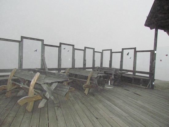 Bergrestaurant Kaiserburg: Веранда в облаках