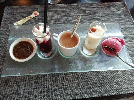 17 Cote Lac: Café gourmand