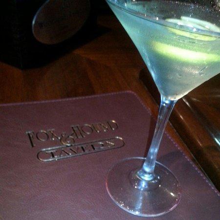 Fox & Hound Tavern: My favorite cocktail - lemon drop martini and menu full of good stuff
