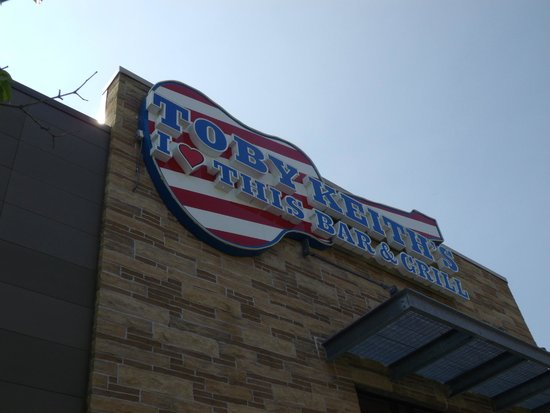 Toby Keith's I Love This Bar & Grill: outside sign