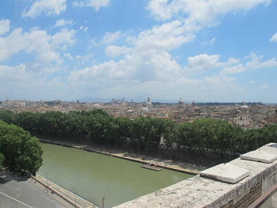 Castillo de Sant'Angelo: Il panorama che si staglia su tutta Roma dalla cima di Castel Sant' Angelo