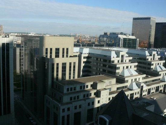 Thon Hotel Brussels City Centre: Вид на Брюссель из окна нашего номера