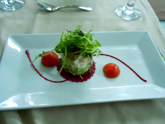 The Royal Corin Thermal Water Spa & Resort: crab meat and avocado salad
