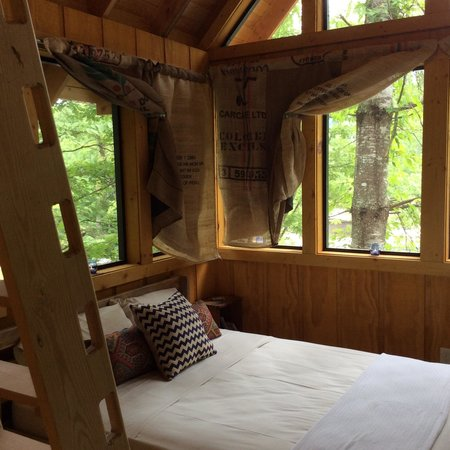 Camp LeConte Luxury Outdoor Resort : Luxury Tree House Open-air Sleeping