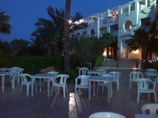 Vincci Resort Djerba: terasse des palmier