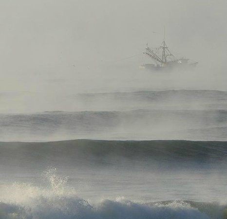 Topsail Island: ghost shrimp boat