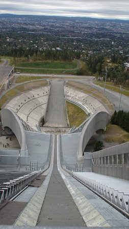 Musée du ski de Holmenkollbakken : View from the top of the jump tower