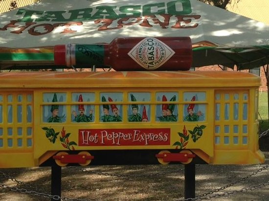 Tabasco Visitor Center and Pepper Sauce Factory: Tabasco display