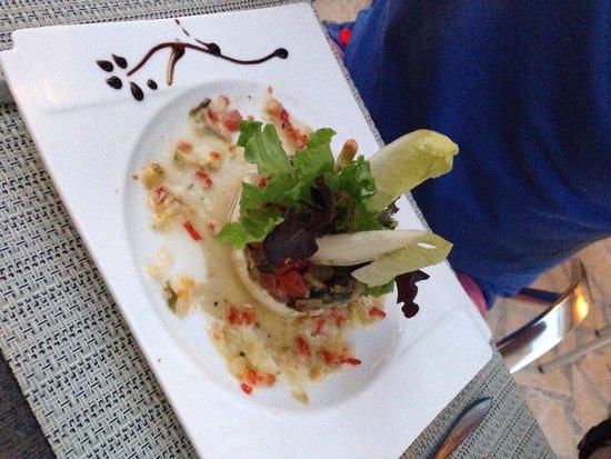Restaurant Cote Place: Tartare de tomates et courgettes