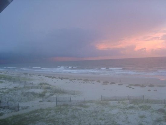 Saint George Island State Park: evening storm over the water...view from our balcony