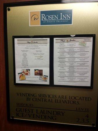 Rosen Inn at Pointe Orlando: food menu