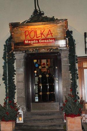 Polka Restauracja: wejście do restaurcji