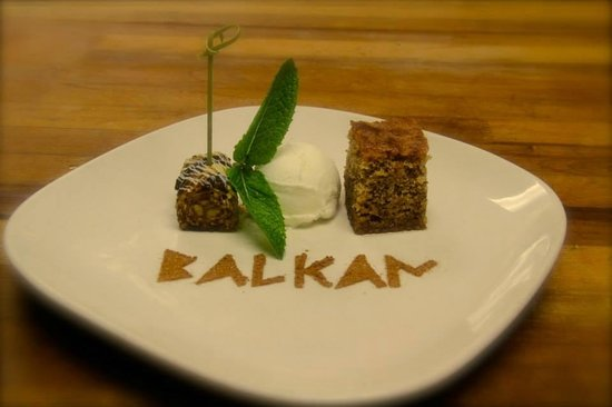 Balkan Restaurant : Walnut Cake and Chocolate Baklava