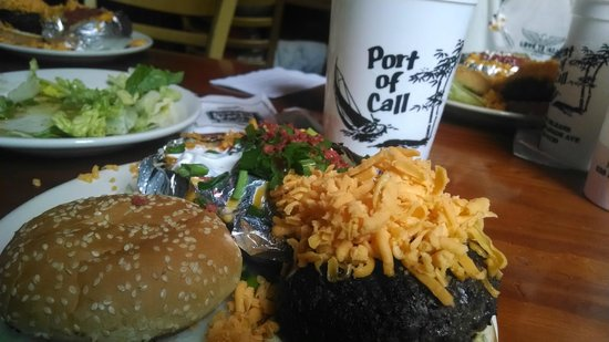 Port of Call : Famous burger, baked potato and Monsoon