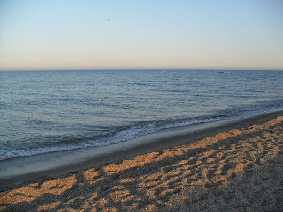 Evenia Zoraida Park: Beach Opposite Hotel - Shingle