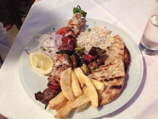 Restaurant Platanos : souvlaki