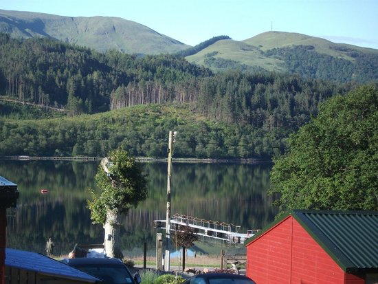Loch Leven Chalets: view from our decking