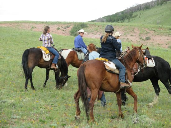 Laramie River Dude Ranch: trail ride - short break