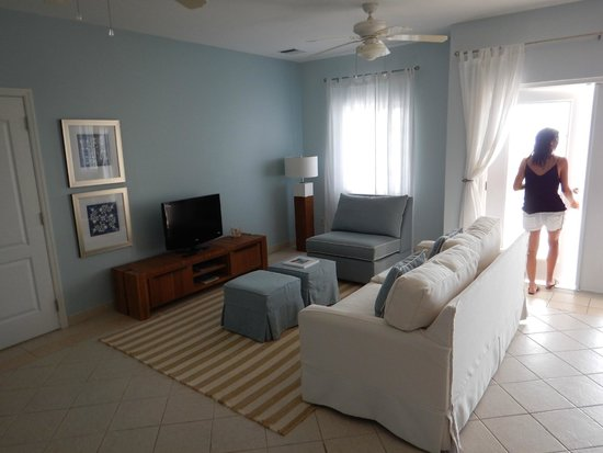 Beach House Turks & Caicos: living room was perfectly furnished