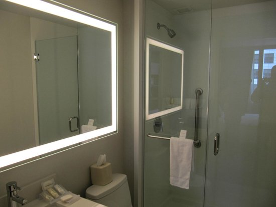Central Park Bathrooms small but modern bathroom  picture of hilton garden inn new york