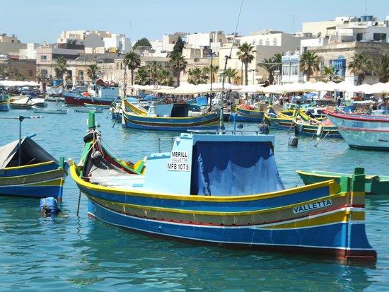 Marina Hotel Corinthia Beach Resort: Marsaxlokk harbour