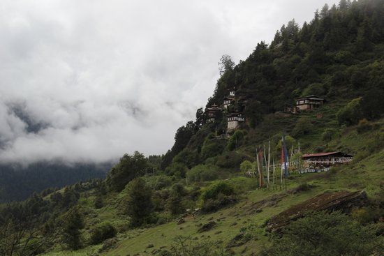 Wind Horse Ranch & Riding Club: Monastery on hillside