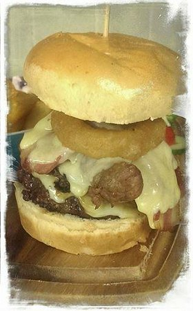 The Deal Smokehouse: Feeling hungry? Try our 'Who's the Daddy' burger with all the trimmings!