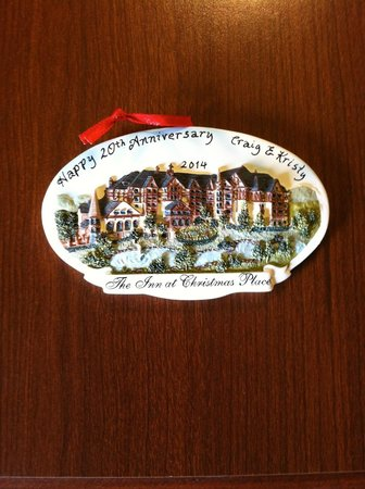 The Inn at Christmas Place: They gave us this ornament for our 20th wedding anniversary