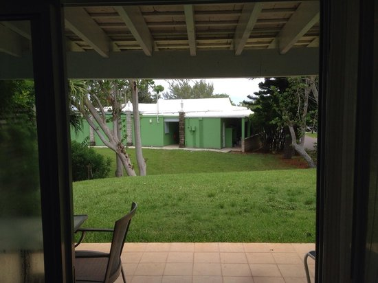 Elbow Beach, Bermuda : Our view of the gardeners shed.