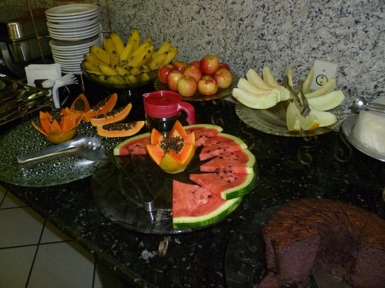 Hotel Real: bufé do café da manhã