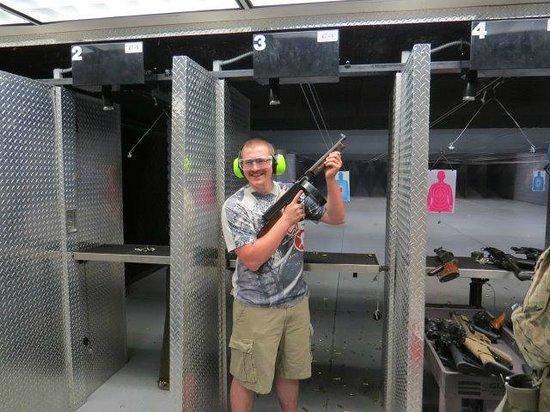 Battlefield Vegas: Chris after shooting a Thompson Machine Gun