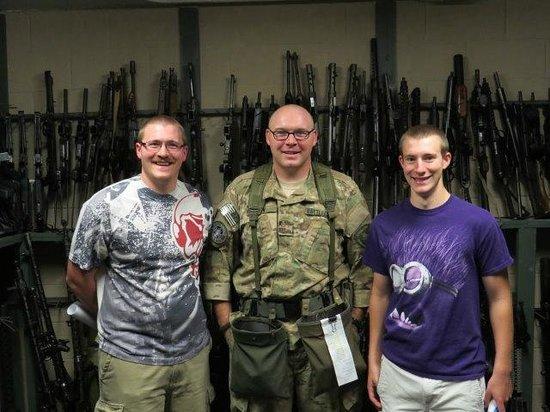Battlefield Vegas: Chris, John and Alex in the gun vault