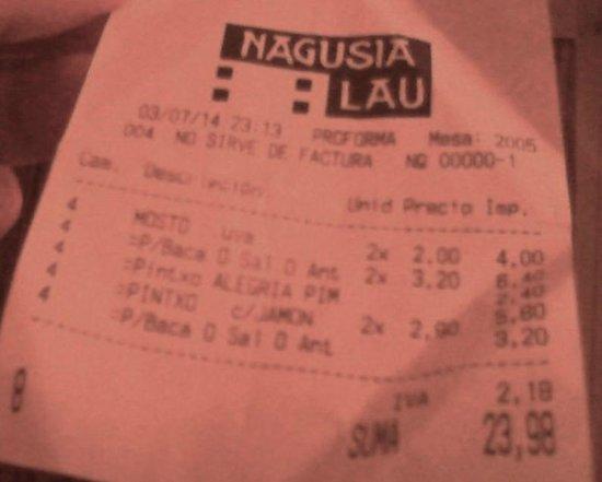 Nagusia Lau: Ticket