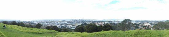 View from Mount Eden on Auckland