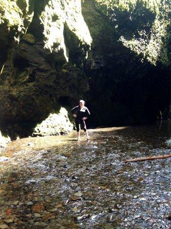 Oneonta Gorge: hiking along