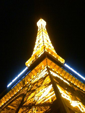 Eiffel Tower Experience at Paris Las Vegas : Eiffel Tower at night