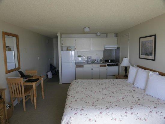 Silver Surf Motel: Full sized fridge, kitchen sink